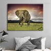 Castle Animal Nature Modern Framed Smudge Picture Canvas Print for Lounge Room Wall Disposition