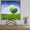 Lawn Floral Modern Framed Painting Image Canvas Print for Dining Room Wall Ornamentation