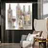 Bottles Abstract Modern Framed Effigy Image Canvas Print for Lounge Room Wall Drape