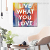 What Love Contemporary Framed Painting Image Canvas Print for Room Wall  Molding