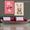 Cony Animated Animal Vegetable Framed Painting Picture Canvas Print for Living Room Wall Ornament