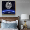 Starry Sky Religious Modern Framed Painting Picture Canvas Print for Room Wall Assortment