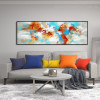 Calico Spots Abstract Modern Panoramic Framed Painting Image Canvas Print for Room Wall Garniture