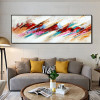 Reddish Abstract Modern Panoramic Framed Canvas Artwork Picture Print for Lounge Room Wall Outfit