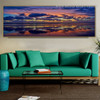 Shore Modern Panoramic Landscape Framed Painting Picture Canvas Print for Room Wall Getup