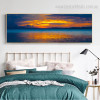 Daybreak Modern Landscape Panoramic Painting Portrait Canvas Print for Room Wall Ornament