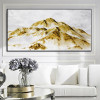 Golden Rocks Abstract Modern Nature Framed Canvas Artwork Picture Print for Room Wall Drape