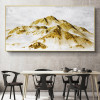 Golden Rocks Abstract Modern Nature Framed Canvas Artwork Picture Print for Dining Room Wall Decoration