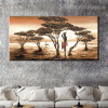 Primitive Tribe Nature Framed Painting Image Canvas Print for Room Wall Flourish