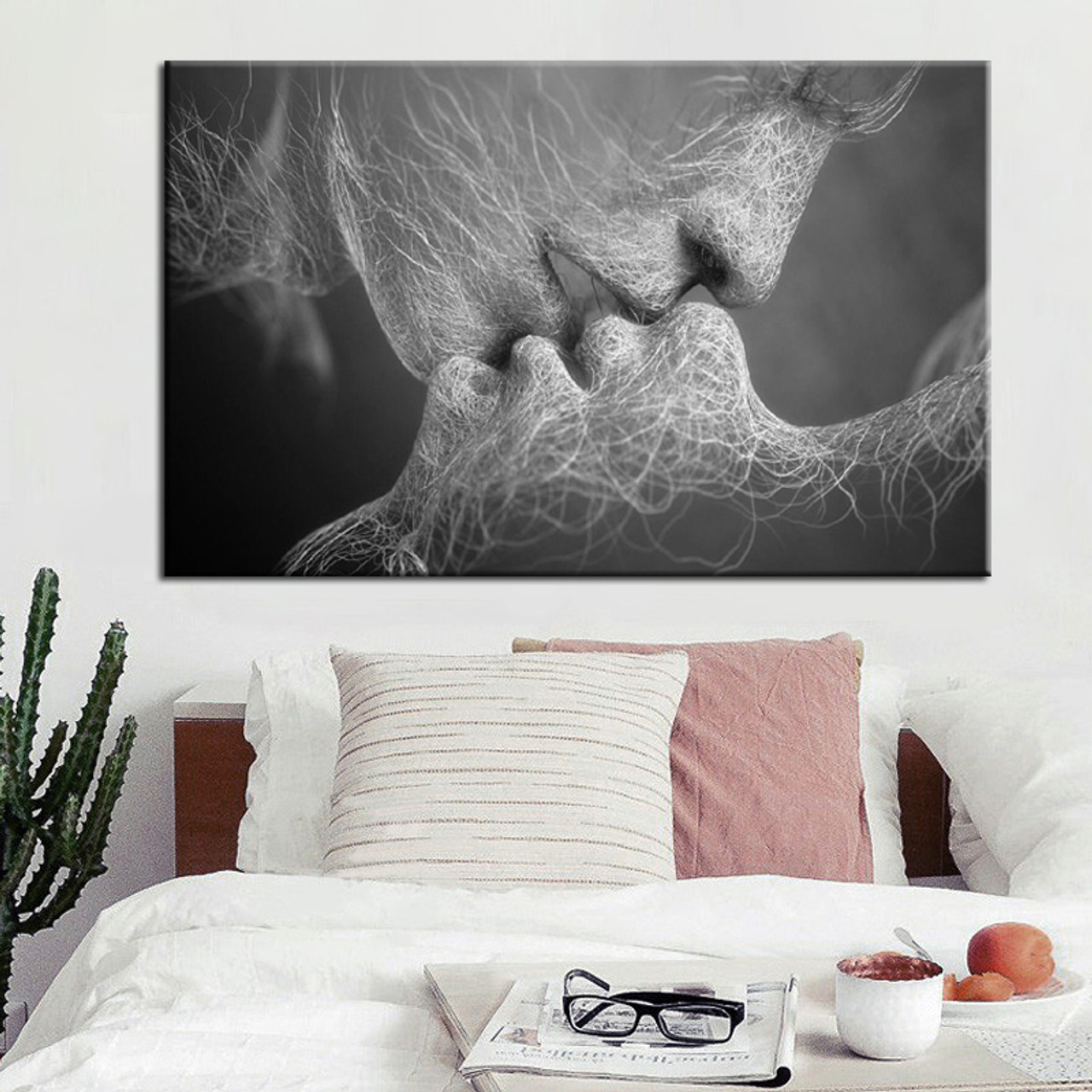 Buy Love Kiss Canvas Print Wall Art Decor