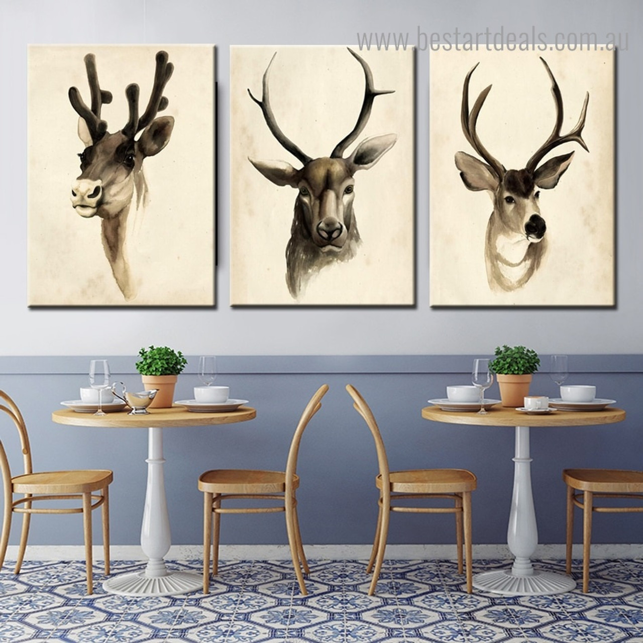 Buy Horned Creature Canvas Print Wall Art Decor