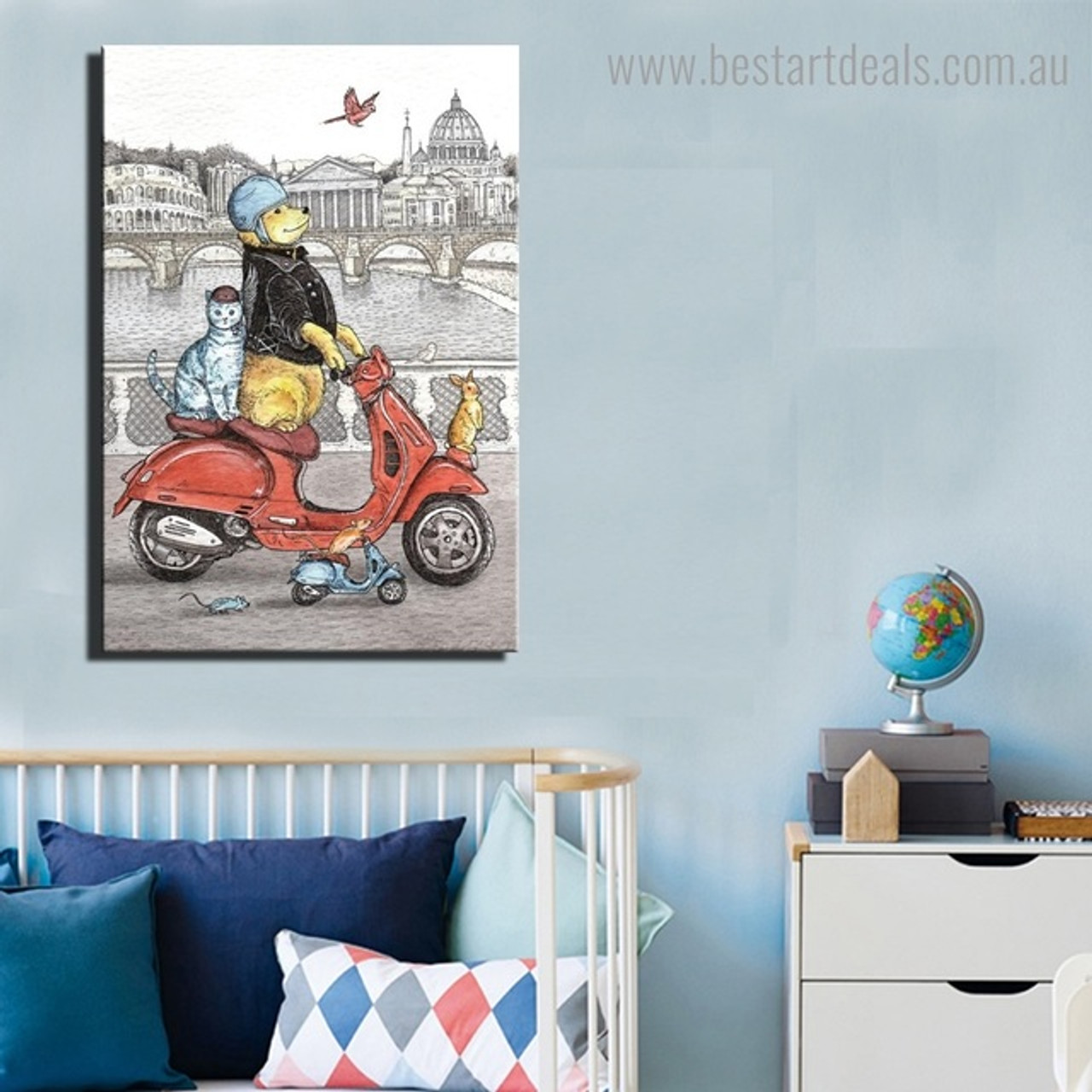 4 Ways to Display Artwork in the Kids Nursery