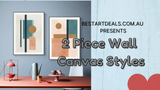 2 Piece Wall Canvas Styles Video