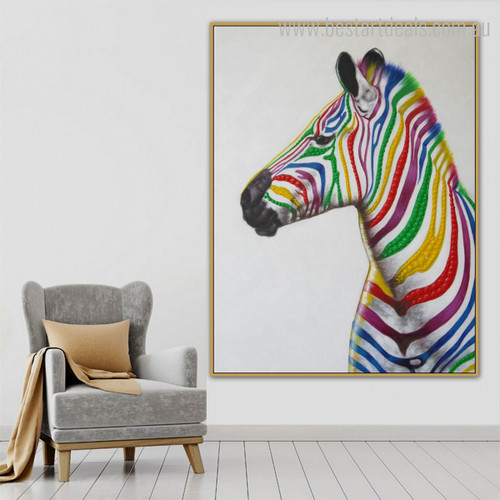 Calico Equus Burchelli Abstract Animal Modern Resemblance Image Canvas Print for Room Wall Trimming