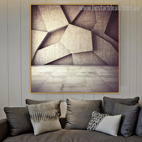Hail Pattern Abstract Modern Geometric Framed Scheme Image Canvas Print for Room Wall Equipment