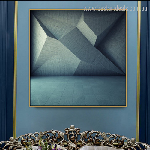 Triangular Art Abstract Geometry Framed Painting Image Canvas Print for Room Wall Decor