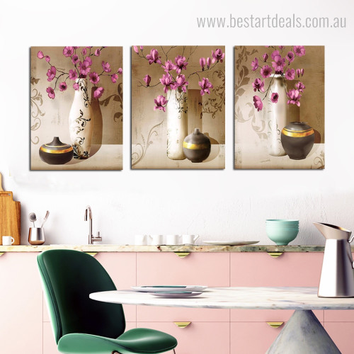 Vase Pottery Botanical Contemporary Framed Portraiture Photo Canvas Print for Lounge Room Wall Decoration
