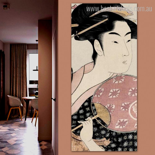 Takashima Ohisa Figure Vintage Framed Painting Picture Canvas Print for Lounge Room Wall Assortment