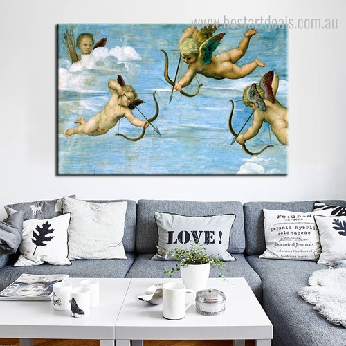 The Triumph of Galatea Reproduction Framed Figure Painting Portrait Canvas Print for Room Wall Outfit
