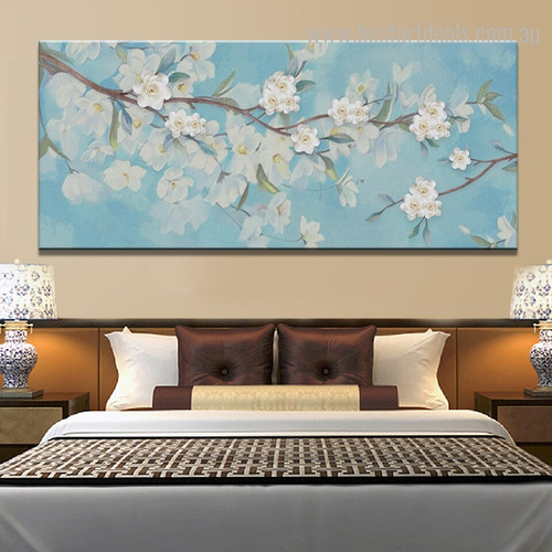 Cherry Blossom Floral Framed Smudge Photo Canvas Print for Room Wall Outfit