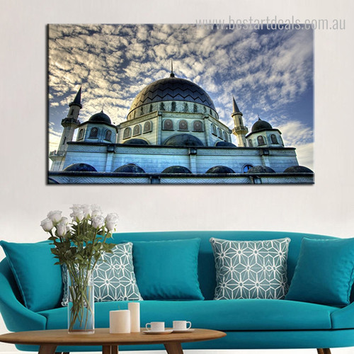 The Blue Mosque Islamic Religious Modern Framed Portraiture Photo Canvas Print for Room Wall Assortment