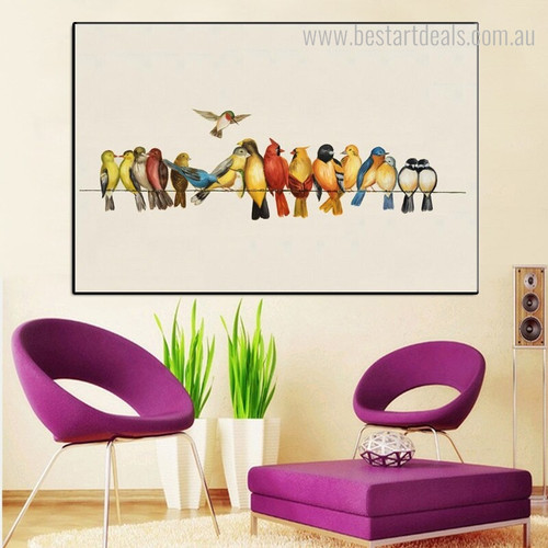 Dapple Dickeys Bird Framed Resemblance Photo Canvas Print for Room Wall Disposition