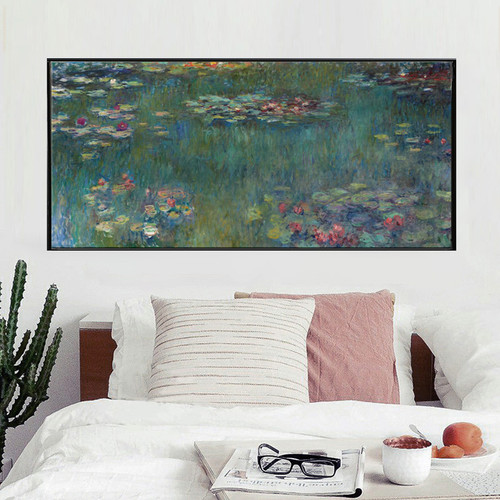 Claude  Monet  Water  Lotus  Canvas  Art  Print  Poster  Abstract  Art  Wall  Pictures  for  Living  Room  Decoration