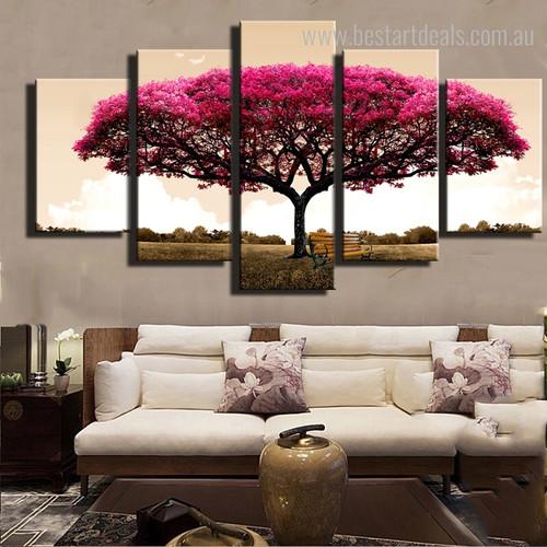 Orchard Botanical Modern Framed Vignette Image Canvas Print for Room Wall Ornament