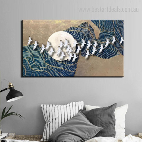 Geeses Abstract Bird Modern Framed Perspective Photo Canvas Print for Room Wall Outfit