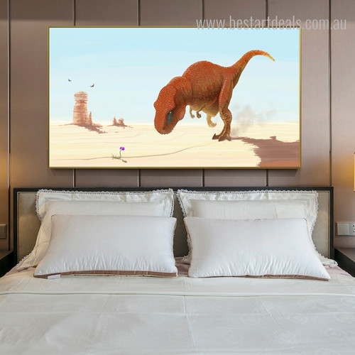 Tyrannosaurus Abstract Animal Framed Scheme Picture Canvas Print for Room Wall Trimming