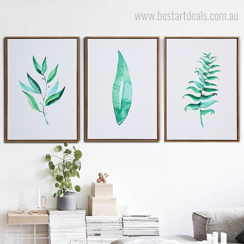 Tree Vanes Abstract Botanical Minimalist Modern Framed Smudge Picture Canvas Print for Room Wall Garnish