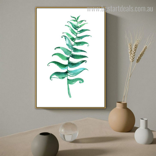 Foliage Abstract Botanical Minimalist Modern Framed Painting Portrait Canvas Print for Room Wall Decor