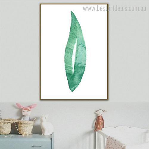Plant Leaf Abstract Botanical Minimalist Modern Framed Vignette Image Canvas Print for Room Wall Decor