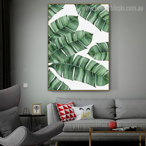 Banana Leaves Botanical Modern Nordic Framed Resemblance Picture Canvas Print for Room Wall Adornment