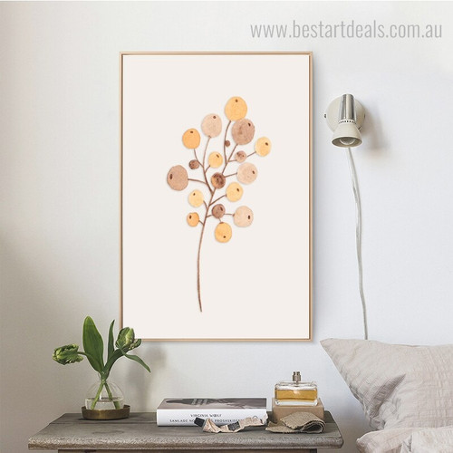 Cherry Fruit Abstract Botanical Minimalism Nordic Framed Painting Portrait Canvas Print for Room Wall Decoration