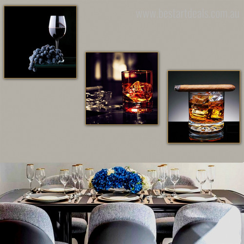 Ale Food & Beverage Still Life Modern Framed Perspective Image Canvas Print for Dining Room Wall Garniture
