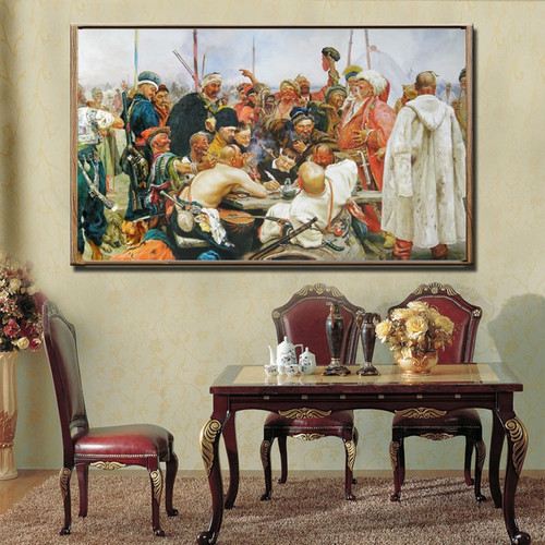 Ilya Repin Reply to the Sultan of Turkey dinning room wall decor