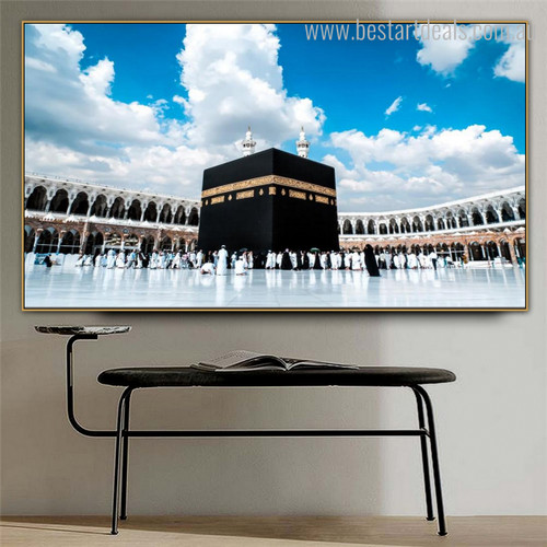 Great Kaaba Mosque Islamic Religious Modern Framed Smudge Picture Canvas Print for Room Wall Assortment