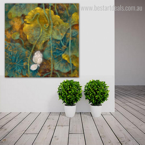 Lotus Seeds Botanical Watercolor Framed Likeness Picture Canvas Print for Room Wall Assortment