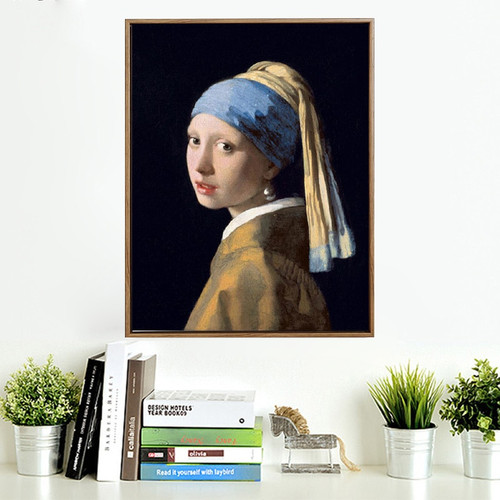 Netherlands Jan Vermeer Girl with A Pearl Earring Study Room Wall Art Decor