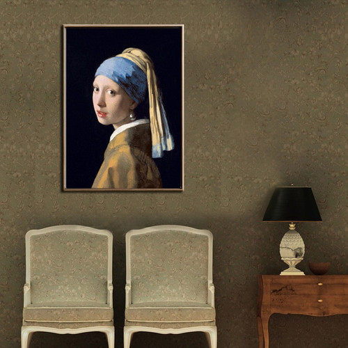 Netherlands Jan Vermeer Girl with A Pearl Earring Living Room Wall Art Décor