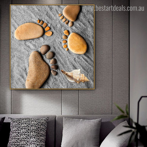 Peg Abstract Nordic Modern Framed Painting Photo Canvas Print for Room Wall Decor