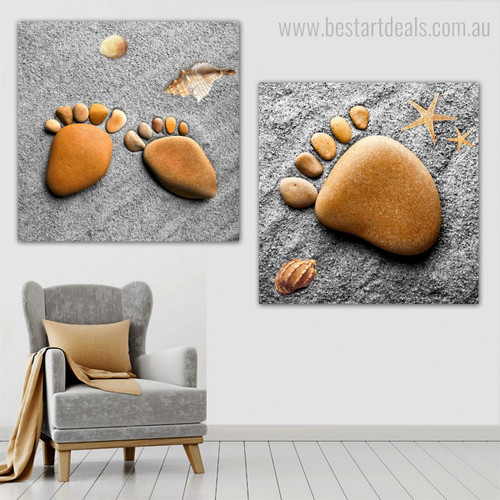 Human Foot Abstract Nordic Modern Framed Vignette Image Canvas Print for Room Wall Outfit