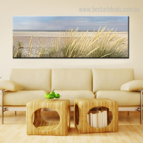 Island Seascape Landscape Modern Framed Perspective Image Canvas Print for Room Wall Flourish