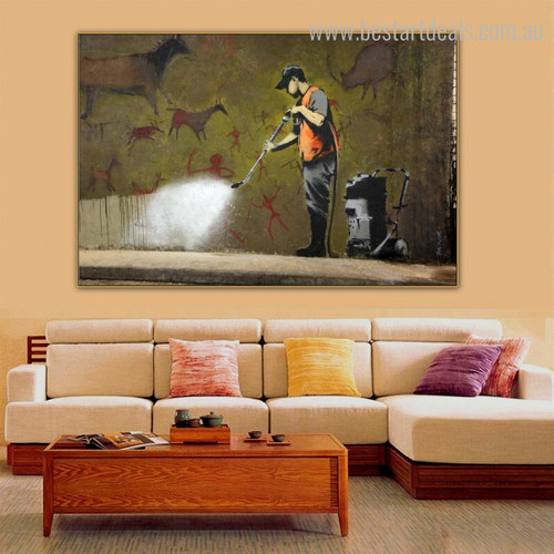 Graffiti Removal Modern Graffiti Framed Likeness Picture Canvas Print for Room Wall Finery
