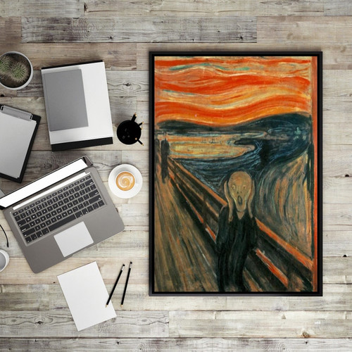 Edvard Munch Scream Abstract Painting Canvas Print For Study Room Wall Décor