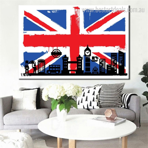 Big Ben England City Contemporary Framed Resemblance Portrait Canvas Print for Room Wall Outfit