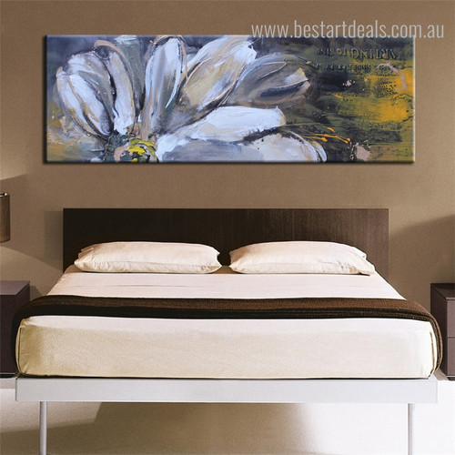 Semi Flower Abstract Panoramic Botanical Framed Likeness Picture Canvas Print for Room Wall Outfit