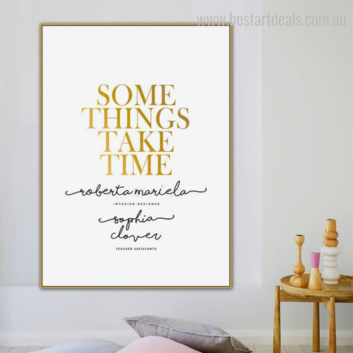 Something's Calligraphy Modern Nordic Framed Scheme Picture Canvas Print for Room Wall Decor