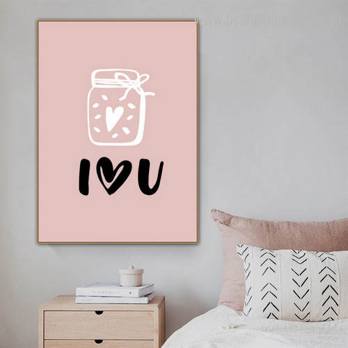 Jar Quote Nordic Framed Effigy Photo Canvas Print for Room Wall Getup